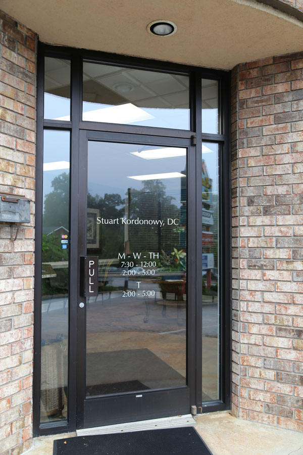 Kordonowy Chiropractic Center - Asheville, NC - Office Entrance